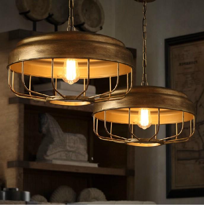 Подвесные светильники в индустриальном стиле