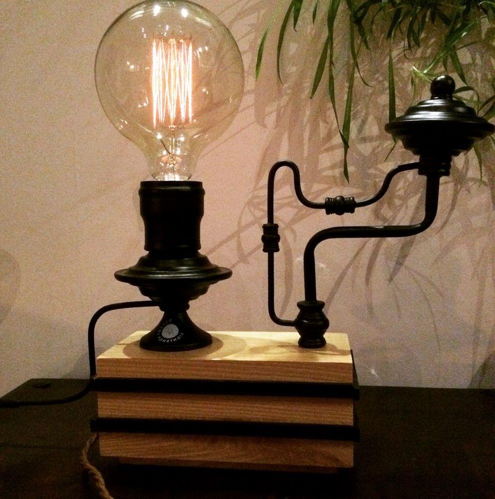Настольный светильник с лампочкой Эдисона