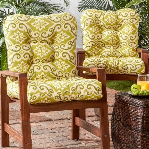 pillow/Outdoor-Seat-Back-Chair-Cushion-Set-of-2-Green-Ikat-0ec7e792-8b55-4960-9839-43484f6dd7d8