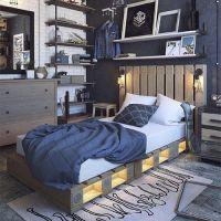 Кровать из паллет КРО115