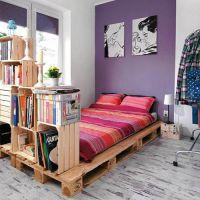 Кровать из паллет КРО125
