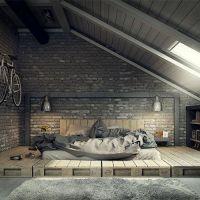 Кровать из поддонов КРО112