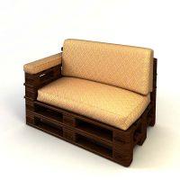 Кресло из поддонов КРС59