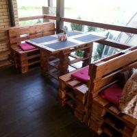 Мебель для кафе из поддонов МК202