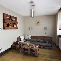 Кровать из паллет КРО119