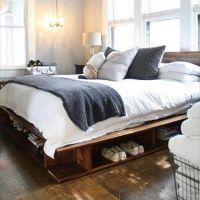 Кровать из поддонов КРО21