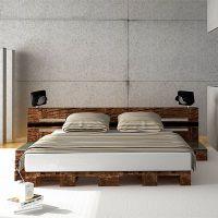 Кровать из поддонов КРО124