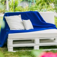 Садовый диванчик из паллет МС106