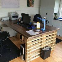 Солидный офисный стол из поддонов МО14