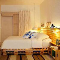 Кровать из паллет КРО40