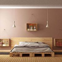 Кровать из поддонов КРО53