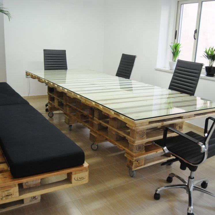 Сделать офисный стол своими руками 49