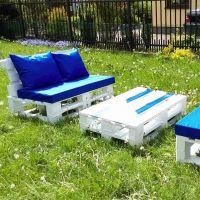 Мебель для сада из паллет МС54