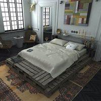 Кровать из поддонов КРО118
