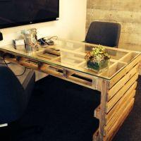 Стол из поддонов для офиса МО20