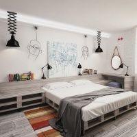 Кровать из поддонов КРО114