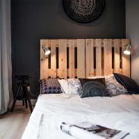 Кровать из поддонов КРО75