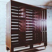 Передвижной шкаф из поддонов ШП25