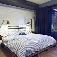 Кровать из паллет КРО113