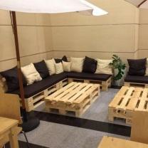 Мебель для кафе из поддонов МК90