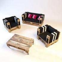 Мебель для кафе из поддонов МК148
