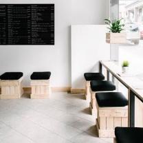 Мебель для кафе из поддонов МК86