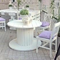 Мебель для кафе из поддонов МК22