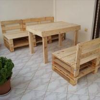 Мебельный набор со столом из паллет в эко стиле СТ39