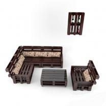 Набор мебели из поддонов для кафе МК213