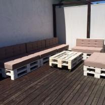 Набор мебели для кафе из поддонов МК209