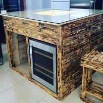 Кухонный стол из поддонов СТ35