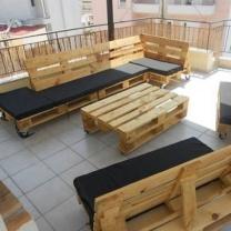 Мебель для кафе из поддонов МК18
