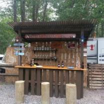 Пляжный бар из поддонов МК219