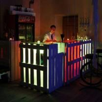 Деревянная барная стойка с подсветкой БС78