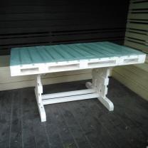 Замечательный стол со стеклом удобен для кафе и баров МК188