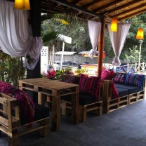Мебель для кафе из поддонов МК36